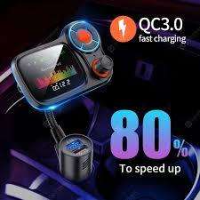 <b>Big Display Car Charger</b> Quick Charge 3.0 Dual USB Fast Charging ...