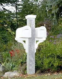 Nh Grey Granite Mailbox Post Westwood Mills Nh Grey Granite Mailbox