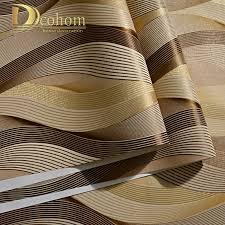 Mode Pvc Zwart Wit Zilver Gestreept Behang 3d Moderne Woonkamer