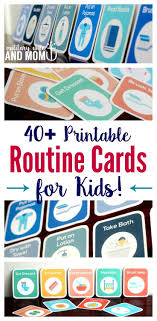 Toddler Routine Chart 40 Printable Routine Cards For Toddlers And Preschoolers