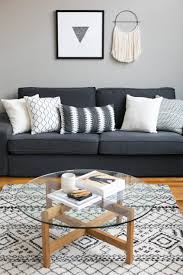 dark gray and pillows 2 sets round table books glass carpet frame plants wall floor big small decorative upcoming fabric leather inspirations upholstery
