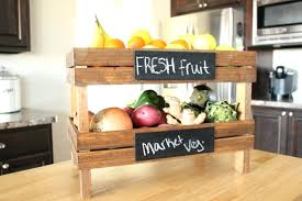 countertop vegetable storage fruit ideas for better kitchen organization