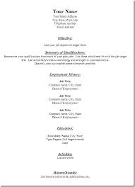 Generic Resume Template Adorable Generic Resume Template Free Resume Templates 28