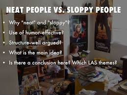composition critical thought by jessica ngo neat people vs sloppy people
