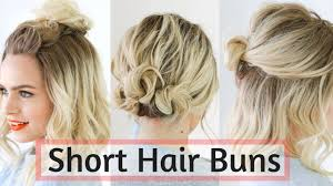 Mid Hairstyle quick bun hairstyles for short medium hair hair tutorial 1552 by stevesalt.us