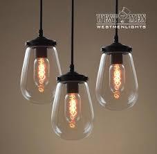 3 light glass chandelier