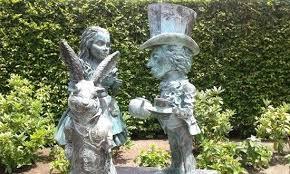 alice in wonderland garden gardens fantasy section in wonderland sculpture alice in wonderland garden statues for