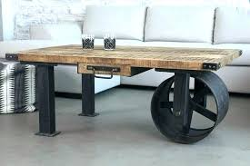 industrial pipe desk galvanized pipes wood modern made in coffee table legs