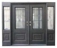 luxury design custom beautiful square iron entry doors with sidelights
