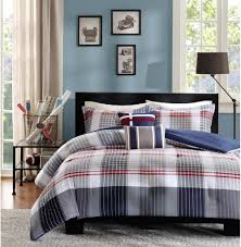 Teen Boys and Teen Girls Bedding Sets – Ease Bedding with Style & Contemporary Plaid Comforter Set Full/Queen Adamdwight.com
