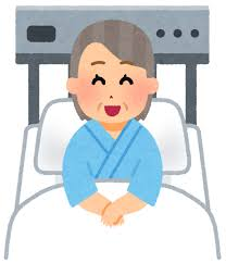 いろいろな表情の入院中の人のイラスト(おばあさん) | かわいい ...
