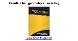 Prentice hall geometry answer key - Google Docs