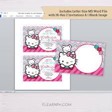 Printable Hello Kitty Invitations Personalized Hello Kitty Invitation Template