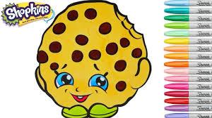 Small Picture Shopkins Coloring Book Kooky Cookie Season 1 Ultra Rare Colouring