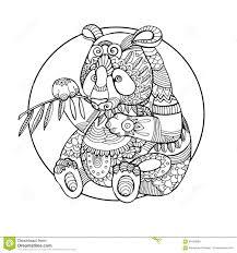 Illustrazione Di Vettore Del Libro Da Colorare Dellorso Di Panda