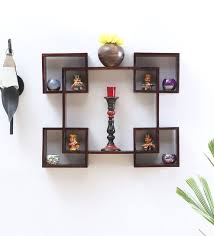 Decorative wall shelving Wall Mounted Buy Solid Wood Handmade Decorative Wall Shelf In Provincial Teak Finish By Salawas Art Craft Online Contemporary Wall Shelves Contemporary Wall Pepperfry Buy Solid Wood Handmade Decorative Wall Shelf In Provincial Teak