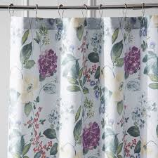 tiffany floral shower curtain  pier  imports