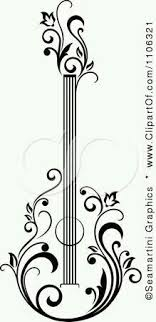 freezer clipart black and white. clipart black and white floral guitar 1 - royalty free vector illustration by seamartini graphics. this would be a beautiful tat! freezer