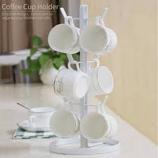 Tea Cup Display Stand Tree Shape Cup Rack with 100 Brackets Drinkware Shelf Tea Cup 13