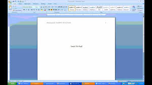 Microsoft Word Apa Header How To Create Apa Headers And Title Page Using Ms Word 2007