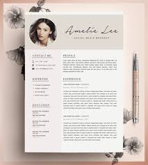 Etsy Resume Template Beauteous Etsy Resume Template With Picture Creative Resume Template Cv