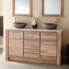 teak vanities bathroom signature hardware bath furniture wood teak vanity top cabinet 34