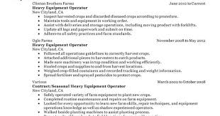 Heavy Equipment Operator Resume Heavy Equipment Operator Resume Examples Highlights Objective 21