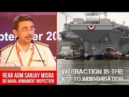 Rear Admiral Sanjay Misra DG Naval Armament Inspection of Indian Navy Ad...  - Defence News, Military News, Geopolitics, Strategic Affairs |  NationalDefence