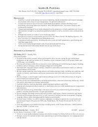 social media marketing resume social media marketing resume 1637