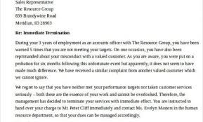 sales rep termination letter termination letter format pertaining to termination letter immediate