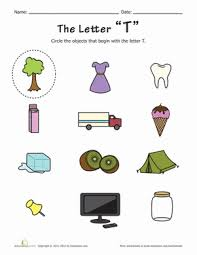 things that begin with the letter t things that start with t worksheet education com