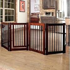 pet gates extra wide wood with door free standing tall adjustable dog e43