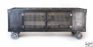 industrial media furniture. Industrial Rolling Media Cabinet / Wood \u0026 Steel Furniture N