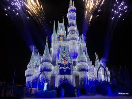 Frozen Holiday Wish Castle Lighting Show