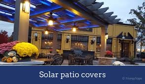 solar panel awnings patio covers are