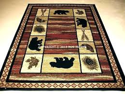 rustic log cabin area rugs lodge fresh bear pine fish rug free new best ideas cabin decor rugs large size of area lodge