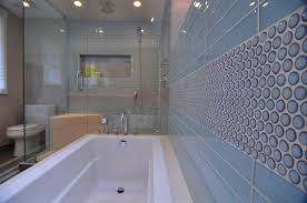 photo 7 of 8 photos white traditional shower with blue tile accent iq awesome blue accent tile