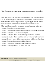 Restaurant General Manager Resume Top100restaurantgeneralmanagerresumesamples100conversiongate100thumbnail100jpgcb=11003010010066100 88