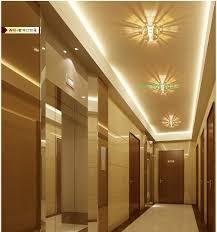 modern crystal gallery light led indoor lights multiple trimless recessed downlight led balcony lights ceiling veranda