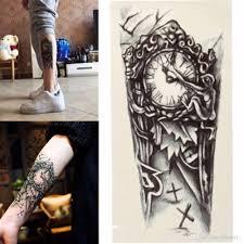 3d большие временные татуировки мужчины водонепроницаемый татуировки рукава для