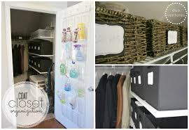 organizing the coat closet