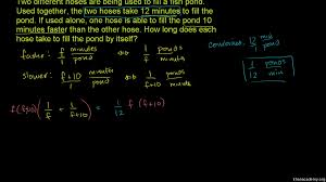 rational equations word problem combined rates video khan academy