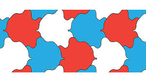 Geometric tessellation with rhombus pattern. Tessellation Template