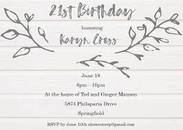 E Invites For Birthday 21st Birthday Party Invitations New Selections Summer 2019