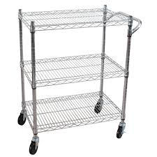 kitchen utility table fresh oceanstar 3 tier heavy duty all purpose utility cart chrome