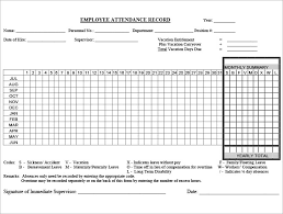 6 Time And Attendance Forms 418212680615 Employee Attendance
