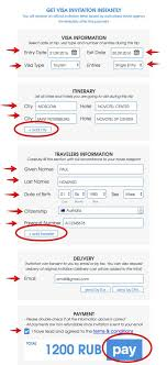 order visa invitation russian visa for canada