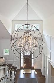 modern lighting ideas. Foyer Lighting Ideas. Light Is From Restoration Hardware Foucault. #Foyer #FoyerLighting EB Modern Ideas