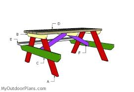 plans for picnic table building a 6 foot picnic table design for folding picnic table plans