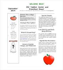 Monthly Newsletter Template For Teachers 9 Monthly Newsletter Templates Free Sample Example Format